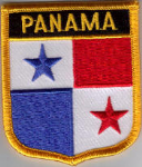 Panama Embroidered Flag Patch, style 07.